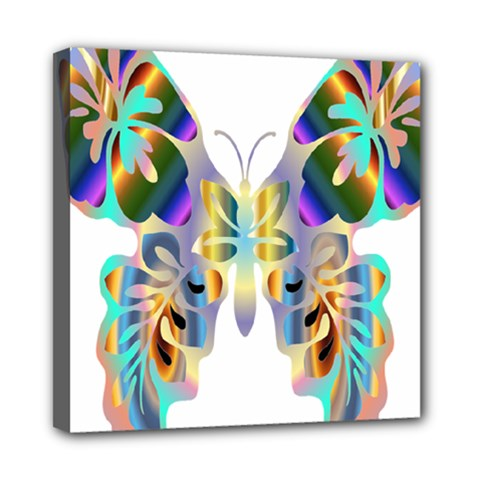 Abstract Animal Art Butterfly Mini Canvas 8  X 8