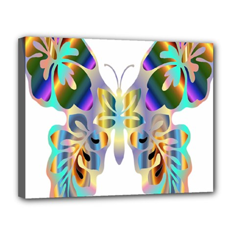 Abstract Animal Art Butterfly Canvas 14  X 11