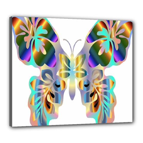 Abstract Animal Art Butterfly Canvas 24  x 20