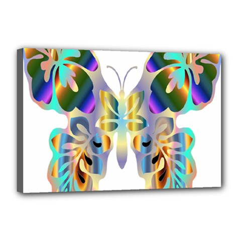 Abstract Animal Art Butterfly Canvas 18  X 12