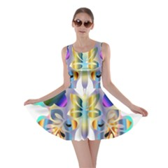 Abstract Animal Art Butterfly Skater Dress