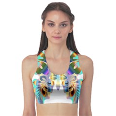 Abstract Animal Art Butterfly Sports Bra