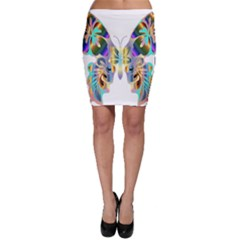 Abstract Animal Art Butterfly Bodycon Skirt