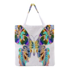 Abstract Animal Art Butterfly Grocery Tote Bag