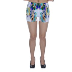 Abstract Animal Art Butterfly Skinny Shorts
