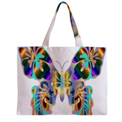 Abstract Animal Art Butterfly Zipper Mini Tote Bag