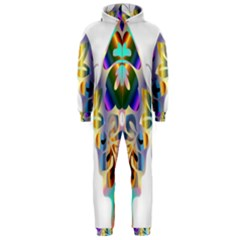 Abstract Animal Art Butterfly Hooded Jumpsuit (men)