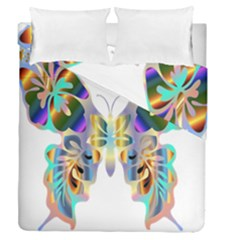 Abstract Animal Art Butterfly Duvet Cover Double Side (queen Size)