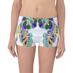 Abstract Animal Art Butterfly Reversible Bikini Bottoms