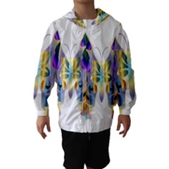 Abstract Animal Art Butterfly Hooded Wind Breaker (kids)