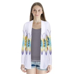 Abstract Animal Art Butterfly Cardigans