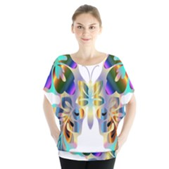 Abstract Animal Art Butterfly Blouse