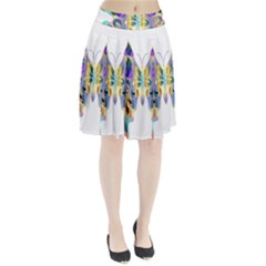 Abstract Animal Art Butterfly Pleated Skirt