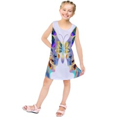 Abstract Animal Art Butterfly Kids  Tunic Dress