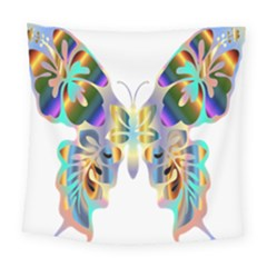 Abstract Animal Art Butterfly Square Tapestry (large)