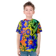 Abstract Background Backdrop Design Kids  Cotton Tee