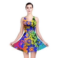 Abstract Background Backdrop Design Reversible Skater Dress