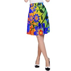 Abstract Background Backdrop Design A Line Skirt