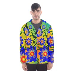 Abstract Background Backdrop Design Hooded Wind Breaker (men)