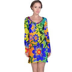 Abstract Background Backdrop Design Long Sleeve Nightdress