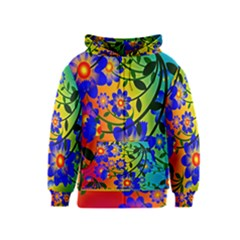 Abstract Background Backdrop Design Kids  Zipper Hoodie