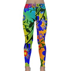 Abstract Background Backdrop Design Classic Yoga Leggings