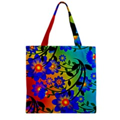 Abstract Background Backdrop Design Zipper Grocery Tote Bag