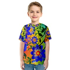 Abstract Background Backdrop Design Kids  Sport Mesh Tee