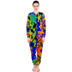 Abstract Background Backdrop Design Onepiece Jumpsuit (ladies)