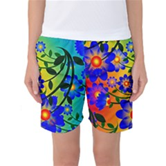 Abstract Background Backdrop Design Women s Basketball Shorts