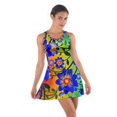 Abstract Background Backdrop Design Cotton Racerback Dress