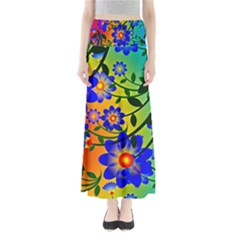 Abstract Background Backdrop Design Maxi Skirts