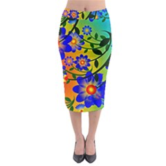 Abstract Background Backdrop Design Midi Pencil Skirt