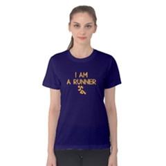I am a runner - Women s Cotton Tee