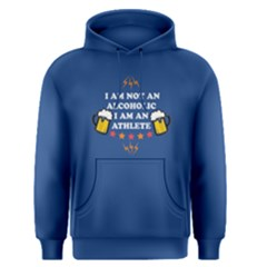 Blue I Am Not An Alcoholic  Men s Pullover Hoodie