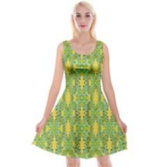 Ornate Modern Noveau Reversible Velvet Sleeveless Dress