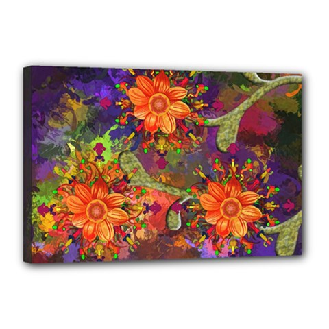 Abstract Flowers Floral Decorative Canvas 18  X 12
