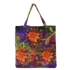 Abstract Flowers Floral Decorative Grocery Tote Bag