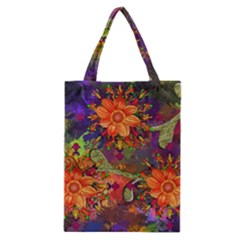 Abstract Flowers Floral Decorative Classic Tote Bag