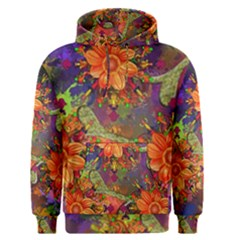 Abstract Flowers Floral Decorative Men s Pullover Hoodie