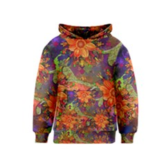 Abstract Flowers Floral Decorative Kids  Pullover Hoodie