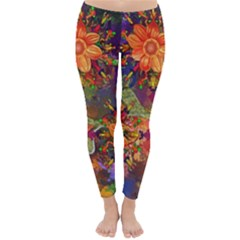 Abstract Flowers Floral Decorative Classic Winter Leggings