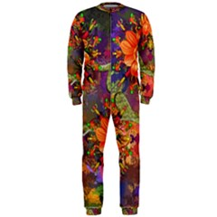Abstract Flowers Floral Decorative Onepiece Jumpsuit (men)