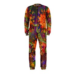 Abstract Flowers Floral Decorative Onepiece Jumpsuit (kids)