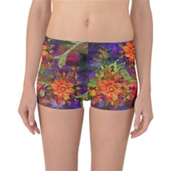 Abstract Flowers Floral Decorative Reversible Bikini Bottoms