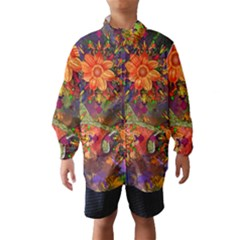 Abstract Flowers Floral Decorative Wind Breaker (kids)