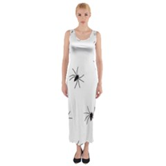 Animals Arachnophobia Seamless Fitted Maxi Dress