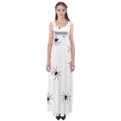 Animals Arachnophobia Seamless Empire Waist Maxi Dress