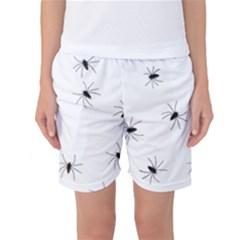 Animals Arachnophobia Seamless Women s Basketball Shorts