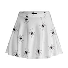 Animals Arachnophobia Seamless Mini Flare Skirt